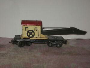 "Lionel Pre War 2660 Crane Car ""Lionel Lines"" for Parts or Restoration 1938-42"