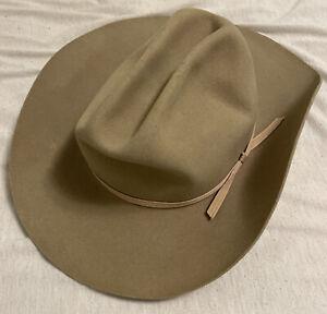 Vintage 60's Dynatex Water Repellent Fur Blend Lone Star Hat Co Cowboy Hat Sz 7!