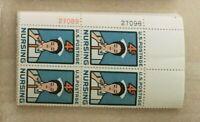 A group of 25 #1190 NURSING 4 cent plate blocks of 4 MNH OG