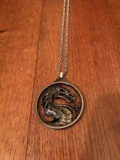 Mortal Kombat Dark Pendant & Pouch New Cosplay Rare Necklace Hot Scorpion Kitana