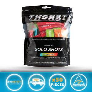 THORZT Free Sugar Electrolyte Hydration Drink Solo Shots - 50 Pack MIX FLAVOURS