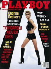 Playboy Magazine February 1998 Daphne Deckers Tomorrow Never Dies