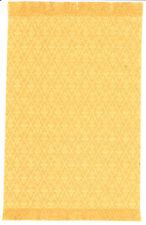 "Dollhouse Miniature Woven Accent Rug Gold Yellow Diamond Pattern  9"" x 5 3/4"""
