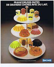 PUBLICITE ADVERTISING 104 1977 FRANCORUSSE faites de grandes choses avec du lait