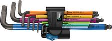 Wera 950/9 Hex-Plus Multicolour HF 1 Winkelschlüsselsatz Haltefunktion, 9-teilig