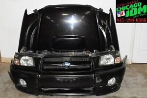 JDM 2003-2005 Subaru Forester XT SG5 Front End Nose Cut Complete HID Conversion