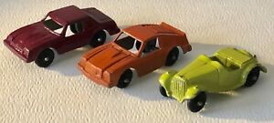 Vintage 1960s Tootsie Toy Metal Painted Auto Race Ccar Mustang Monza Crica Lot 3