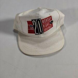 VTG 80s Monday Night Football 20th Anniversary Drew Pearson Snapback Hat White