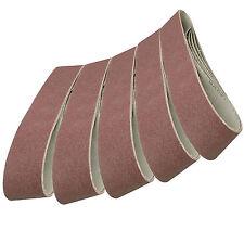 5 Pack Sanding Belts 100 x 915mm (80 Grit) Compatible with Draper Belt Sander