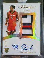 Anthony Edwards 2020 Panini Flawless Collegiate RPA Patch Auto RC #10/10 8 Color