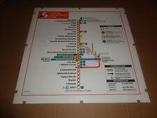 "SEPTA Philadelphia Broad street line map 22"" x 22""----Retired from subway car"