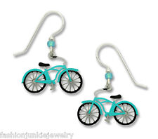 Old Fashioned Bicycle Earrings - 925 Sterling Silver Ear Wires Bike Jewelry NEW