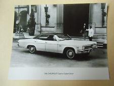 photo de presse originale  CHEVROLET CAPRICE CUSTOM SEDAN 1966