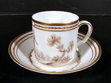 """Tasse & sous-tasse porcelaine fine Limoges Raynaud & Co. dite """"des trois ordres"""""""