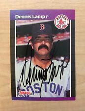 DENNIS LAMP BOSTON RED SOX SIGNED AUTOGRAPHED 1989 DONRUSS #633 W/COA