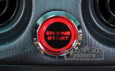 KIT Bottone Pulsante Push Start Button Engine Start + relè LED ROSSO accensione