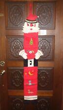 VINTAGE HANDMADE COMPLETED Christmas Felt & Sequin JEWELED Kit SANTA MAIL BAG