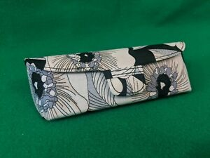 Vera Bradley Authentic Hard Eyeglass Case Camellia Black White Floral
