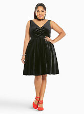 TORRID Velvet Surplice Dress Black NWT SZ 22 (3) MSRP $98.90