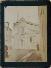 Sandillon Église Saint Aignan France Photographie Vintage Citrate 1901