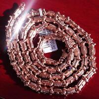 "Alishaev 14k 585 rose gold 8.00ct diamond 30.0"" link chain necklace 102.5g C-27"