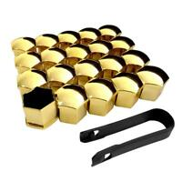 19mm CHROME GOLD Wheel Nut Covers with removal tool fits NISSAN