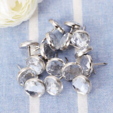 100* Upholstery Nails Tacks Crystal Head Decorative Home Furniture Pack 100pcs