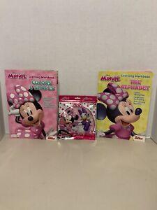 Disney Minnie Alphabet, Colors & Shapes Workbook & Minnie & Daisy Puzzle (V)