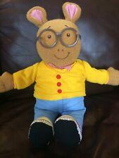 "VINTAGE 1996 Playskool Arthur Doll Toy Plush 18"" Marc Brown Educational Stuffed"