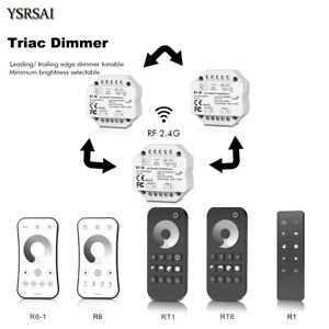 AC110V-220V Triac LED Wireless RF Dimmer Push-Schalter+2.4G 4-Zone Fernbedienung