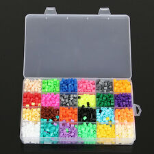2400pcs 5mm 24 Colors New Hama Perler Beads Kids Children Educational DIY Craft