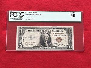 "FR-2300 1935 A Series Hawaii $1 Silver Certificate ""RARE A-C BLOCK"" *PCGS 30 VF*"