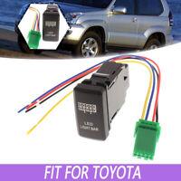 Toyota Hilux Land Cruiser Fortuner 4Runner Fog Light Blue LED 12V Push Switch
