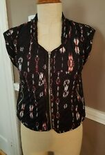 Amazing Multicolor Quilted Zip-Up Vest by Trafaluc Zara!! Size Small!!