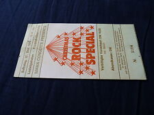Ticket Chrismas rock Special Ludwigshafen Germany 1975!!!