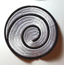 "Naruto Anime White Spiral 4"" Embroidered Patch- FREE S&H (NARU)"