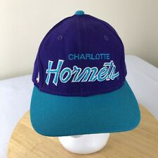 vtg Sports Specialties Charlotte Hornets Fitted 7 1/4 NBA Wool Baseball Hat Cap