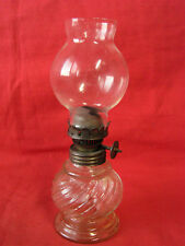 Antique Lamp Pot Glass Twisted - Style Pigeon - Old Lamp
