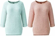 Zip Waist Length 3/4 Sleeve Jumpers & Cardigans for Women