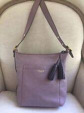COACH Legacy Duffle Messenger Convertible Mauve Purple Pebbled Leather 25678