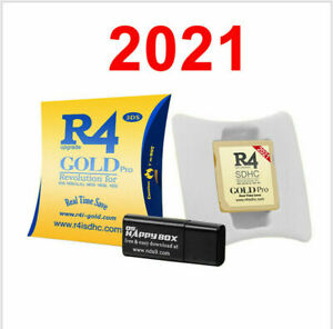 2021 R4 Gold Pro SDHC for 3DS NDS NDSLL Revolution Cartridge With USB Adapter