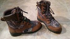 Mens True Timber Camo Thinsulate 600 Boots Size 5 1/2