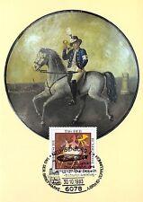 BRD MK 1983 POSTREITER PFERD HORSE MAXIMUMKARTE CARTE MAXIMUM CARD MC CM d9510