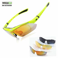 5 Pair Lens Cycling Sunglasses Polarized UV 400 Bicycle Glasses Outdoor Sports