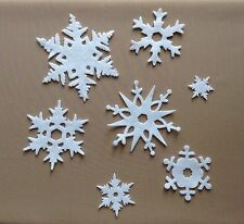 Felt 1x7 die cut snowflakes+++Xmas-Toppers-Applique-Sewing-Scrapbooking-Decor
