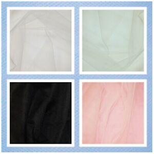 "UK Dress Net Tutu Fabric Tulle Mesh Fairy Bridal Material 58"" Wide Pink White"