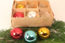 Boules de Noël Rose 6 Pièces Cloches Billes Verre Décoration Arbre