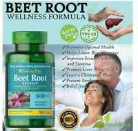 BEET ROOT EXTRACT 500mg  Wellness LIVER Detoxification Supplement 90 Capsules