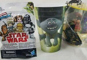 Lego Batman Movie McDonalds  & Trolls Popeyes Cups  & STAR WARS Micro Force Pack