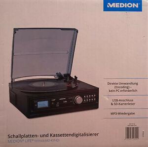 Medion MD 43142 E69143 Schallplatten und Kassettendigitalisierer SD USB MP3
